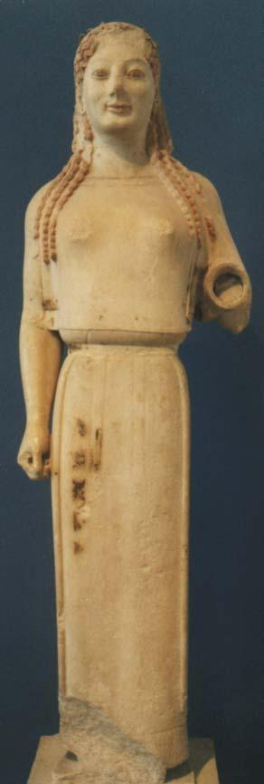 coré 679 dite en péplos acropole d'athènes vers 530